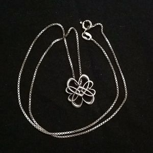 Entwined hearts pendant